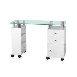 Desk Glass White