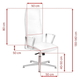 SEAT FOR COSMETIC RICO 156 PEDICURE AND MAKE-UP WHITE