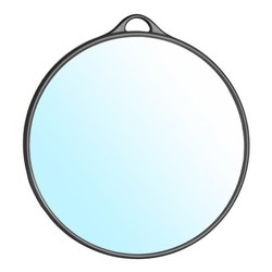 HAIRDRESSER MIRROR ROUND BLACK
